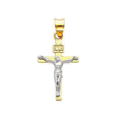 Precious Stars 14k Solid Yellow Gold Crucifiction Square Cross Pendant at Sears.com