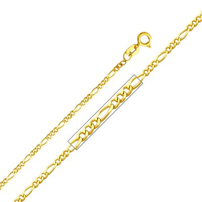 "Precious Stars 14kt Yellow Gold 1.6mm Figaro Chain  - Size: 20"" at Sears.com"