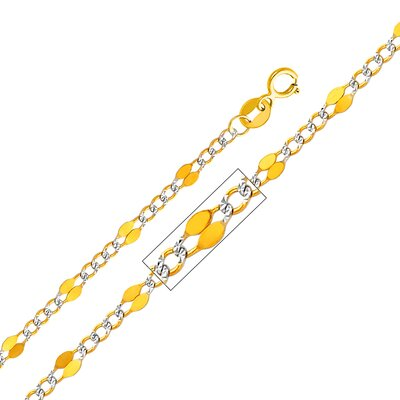 "Precious Stars 14kt Yellow Gold 3.2mm Stamped Figaro Chain  - Size: 16"" at Sears.com"