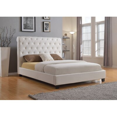 Milan Upholstered Platform Bed Size: Queen