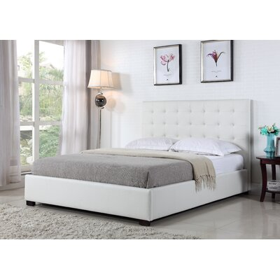 Genova Upholstered Platform Bed Size: King