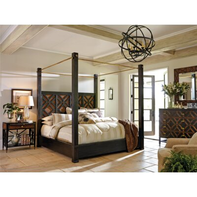 Leslies Metal Canopy Bed Size: King