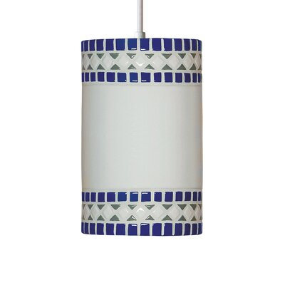 Borders 1-Light Mini Pendant Finish: Cobalt Blue, Bulb Type: Incandescent