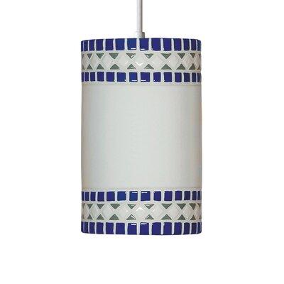 Borders 1-Light Mini Pendant Finish: Cobalt Blue, Bulb Type: Incandescent