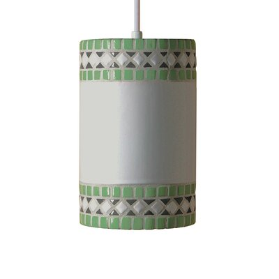 Borders 1-Light Mini Pendant Finish: Mint Green, Bulb Type: Incandescent