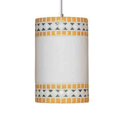 Borders 1-Light Mini Pendant Finish: Sunflower Yellow, Bulb Type: Incandescent