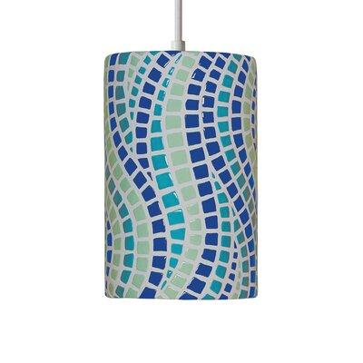 Mosaic 1-Light Mini Pendant Finish: Multicolor, Bulb Type: Incandescent