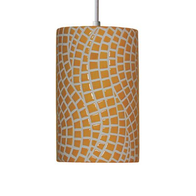 Mosaic 1-Light Mini Pendant Finish: Sunflower Yellow, Bulb Type: Incandescent