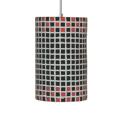 Mosaic 1-Light Mini Pendant Finish: Red and Black, Bulb Type: Incandescent