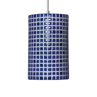 Mosaic 1-Light Mini Pendant Finish: Cobalt Blue, Bulb Type: Incandescent