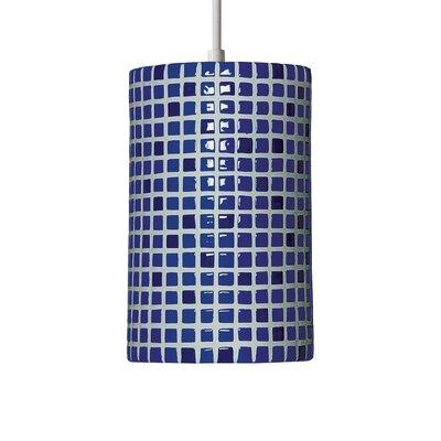 Mosaic 1-Light Mini Pendant Finish: Cobalt Blue, Bulb Type: Incandescent