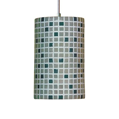 Mosaic 1-Light Mini Pendant Finish: Grey, Bulb Type: Incandescent