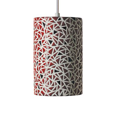 Mosaic 1-Light Mini Pendant Finish: Matador Red, Bulb Type: Incandescent