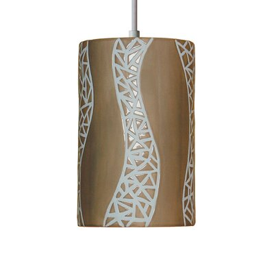 Mosaic 1-Light Mini Pendant Finish: Sand, Bulb Type: Incandescent