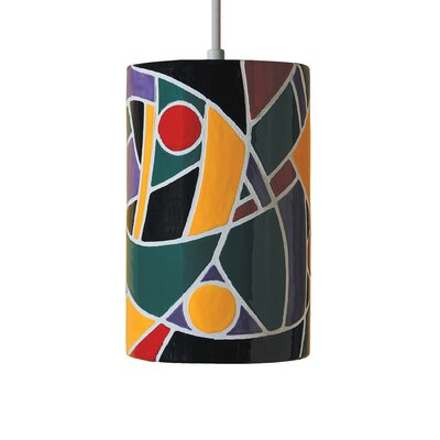 Mosaic 1-Light Mini Pendant Finish: Multicolor, Bulb Type: Incandescent