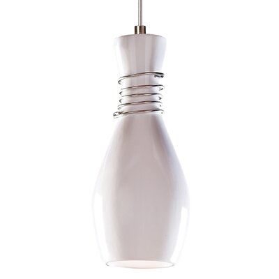 Amphora 1-Light Mini Pendant Finish: White Gloss, Canopy and Transformer: With