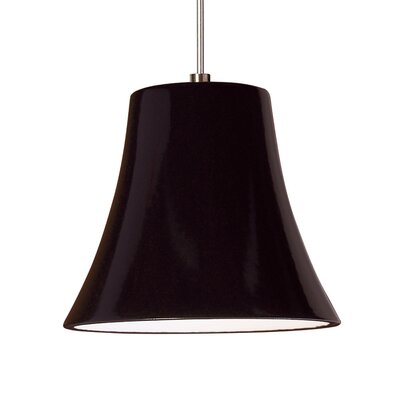 Bella 1-Light Mini Pendant Finish: Black Gloss, Canopy and Transformer: With