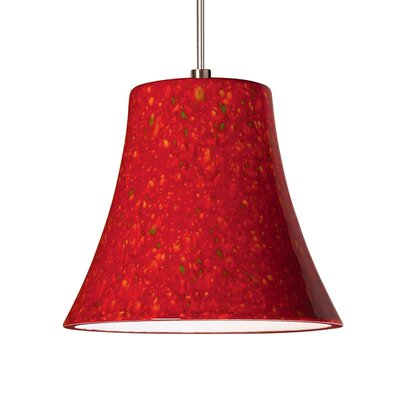 Bella 1-Light Mini Pendant Finish: Firecracker, Canopy and Transformer: With