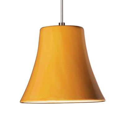 Bella 1-Light Mini Pendant Finish: Sunflower Yellow, Canopy and Transformer: With