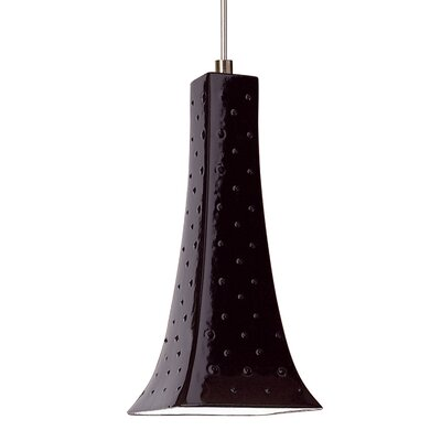 Eiffel 1-Light Mini Pendant Finish: Black Gloss, Canopy and Transformer: With