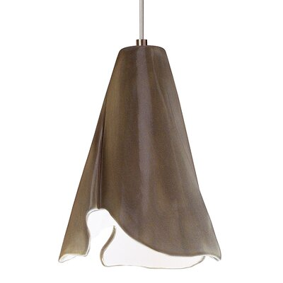 Flora 1-Light Mini Pendant Finish: Sagebrush, Canopy and Transformer: With