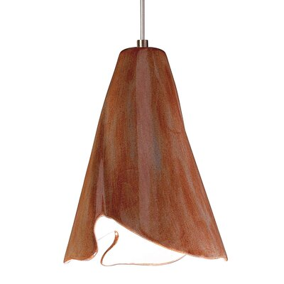 Flora 1-Light Mini Pendant Finish: Spice, Canopy and Transformer: With