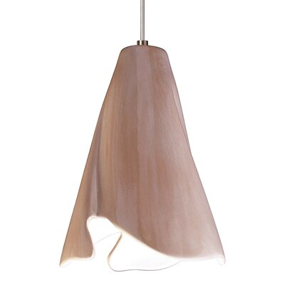 Flora 1-Light Mini Pendant Finish: Tan, Canopy and Transformer: With