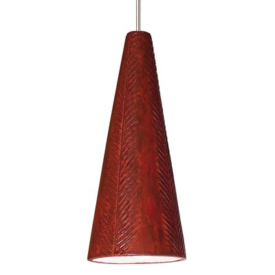 Fossil 1-Light Mini Pendant Finish: Red Rock, Canopy and Transformer: With