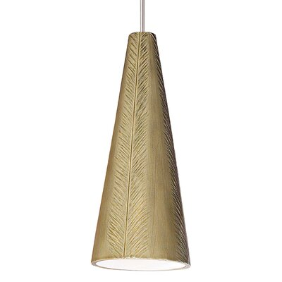 Fossil 1-Light Mini Pendant Finish: Sagebrush, Canopy and Transformer: With