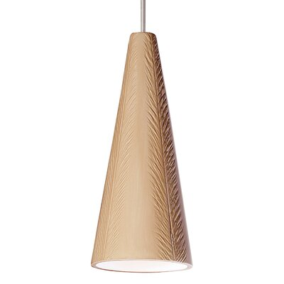 Fossil 1-Light Mini Pendant Finish: Tan, Canopy and Transformer: With