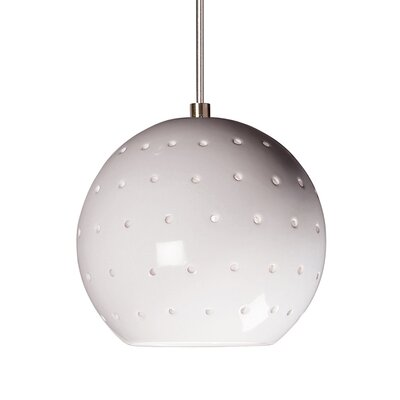 Lunar 1-Light Mini Pendant Finish: White Gloss, Canopy and Transformer: With