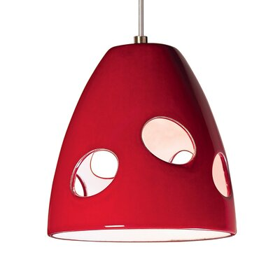 Milano 1-Light Mini Pendant Finish: Matador Red, Canopy and Transformer: With
