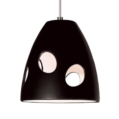 Milano 1-Light Mini Pendant Finish: Matte Black, Canopy and Transformer: With