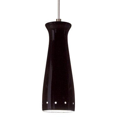 Pilsner 1-Light Mini Pendant Finish: Black Gloss, Canopy and Transformer: With