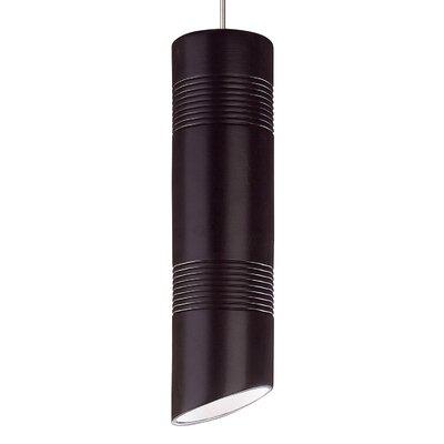 Raindance 1-Light Mini Pendant Finish: Matte Black, Canopy and Transformer: With