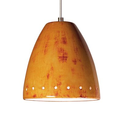 Realm 1-Light Mini Pendant Finish: Desert Blaze, Canopy and Transformer: With