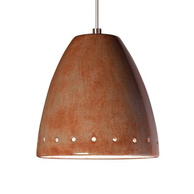 Realm 1-Light Mini Pendant Finish: Spice, Canopy and Transformer: With