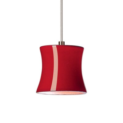 Sake 1-Light Mini Pendant Finish: Matador Red, Canopy and Transformer: With