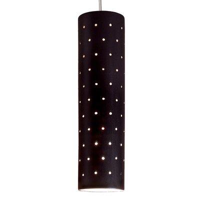 Stellar 1-Light Mini Pendant Finish: Matte Black, Canopy and Transformer: With
