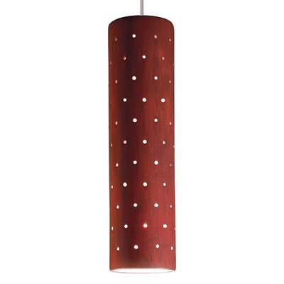 Stellar 1-Light Mini Pendant Finish: Red Rock, Canopy and Transformer: With