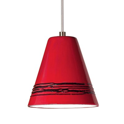 Strands 1-Light Mini Pendant Finish: Matador Red, Canopy and Transformer: With