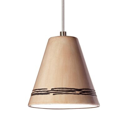 Strands 1-Light Mini Pendant Finish: Tan, Canopy and Transformer: With