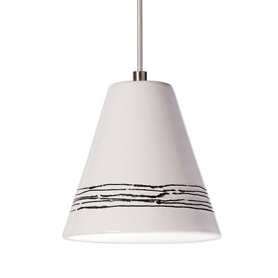 Strands 1-Light Mini Pendant Finish: White Gloss, Canopy and Transformer: With