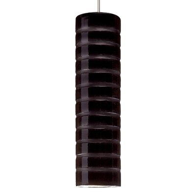 Strata 1-Light Mini Pendant Finish: Black Gloss, Canopy and Transformer: With