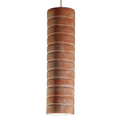 Strata 1-Light Mini Pendant Finish: Spice, Canopy and Transformer: With