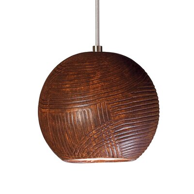 Twine 1-Light Mini Pendant Finish: Butternut, Canopy and Transformer: With