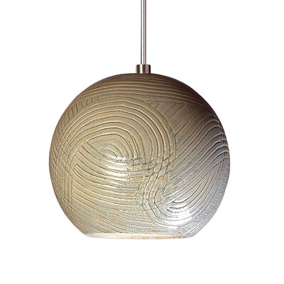 Twine 1-Light Mini Pendant Finish: Sagebrush, Canopy and Transformer: With