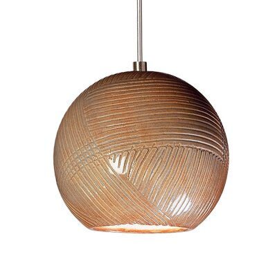Twine 1-Light Mini Pendant Finish: Spice, Canopy and Transformer: With