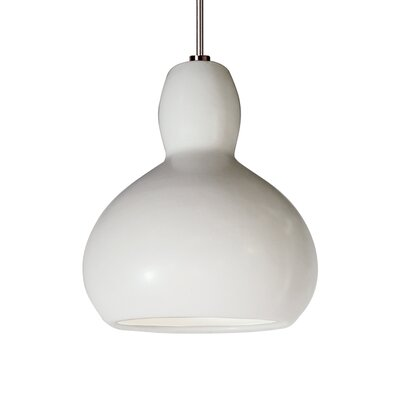 Venus 1-Light Mini Pendant Finish: Matte White, Canopy and Transformer: With