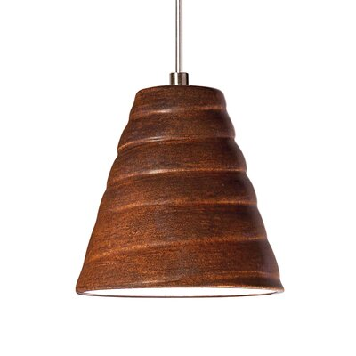 Vortex 1-Light Mini Pendant Finish: Butternut, Canopy and Transformer: With